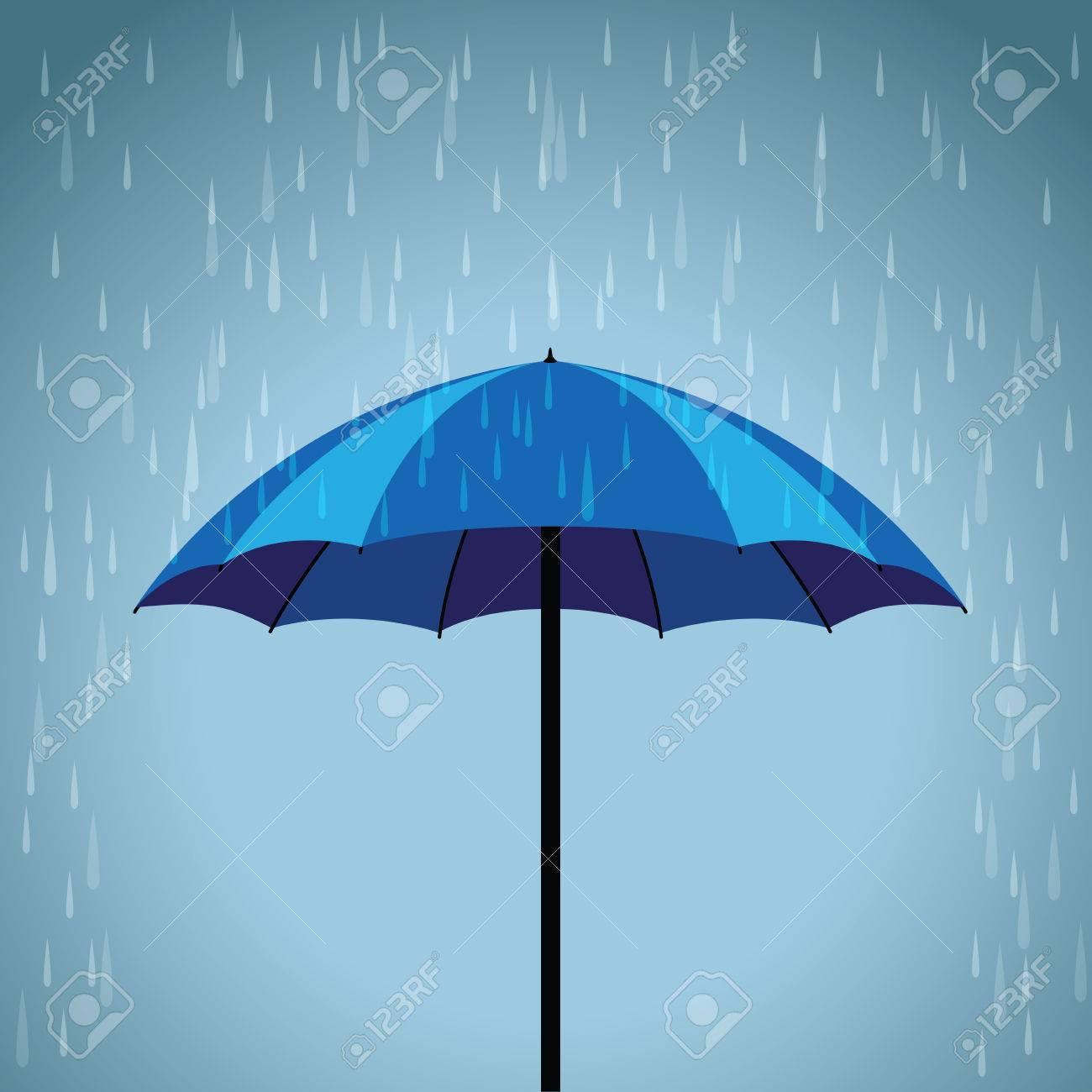 blue umbrella rain background royalty free cliparts vectors and
