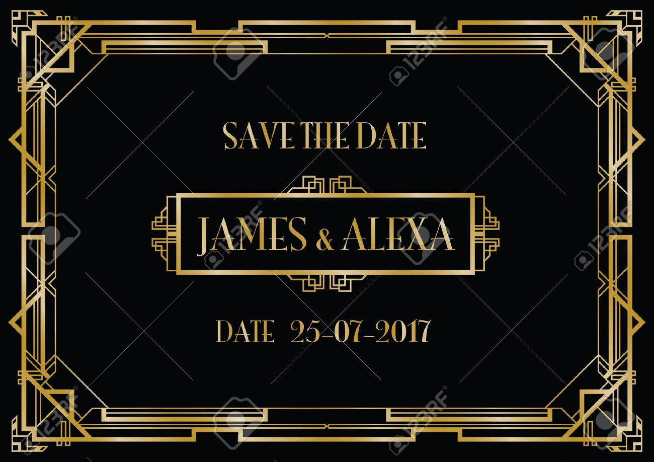 save the date wedding invitation Banque d'images - 58013136