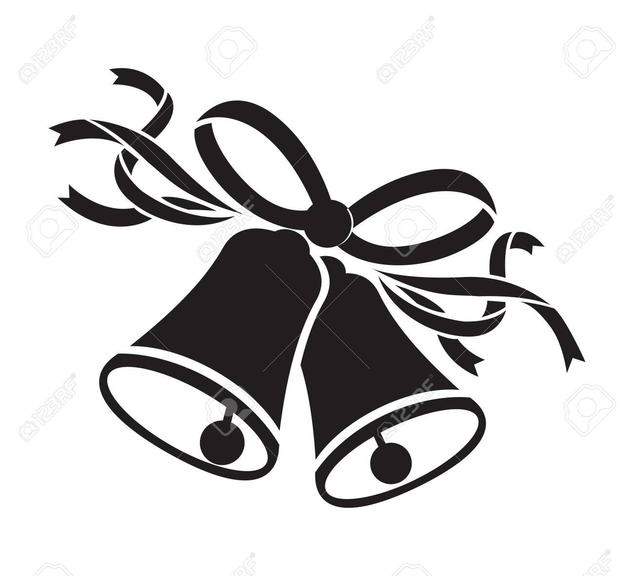 wedding black bells - 58013859