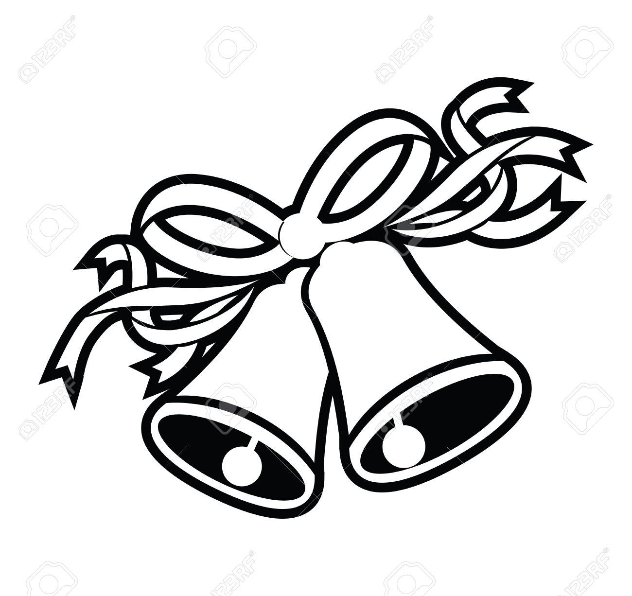 mariage cloches noires Banque d'images - 58013928