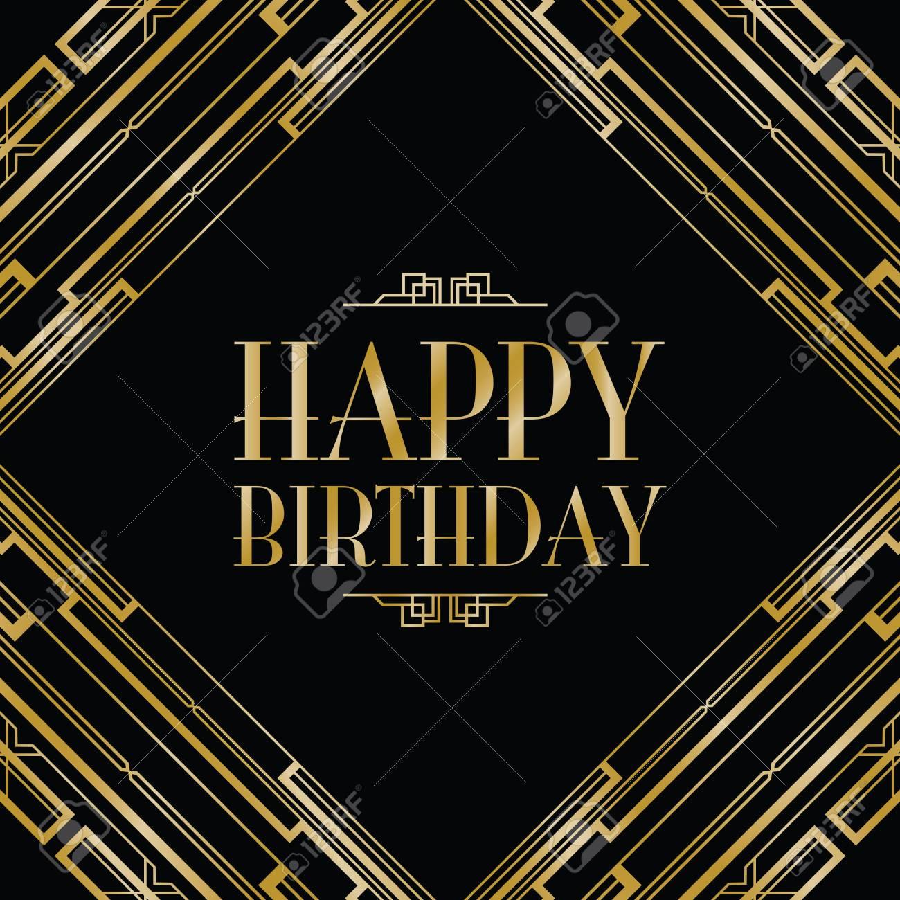 Happy Birthday Art Deco