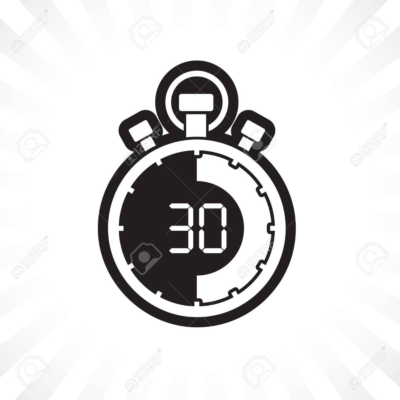 stopwatch thirty minute royalty free cliparts vectors and stock