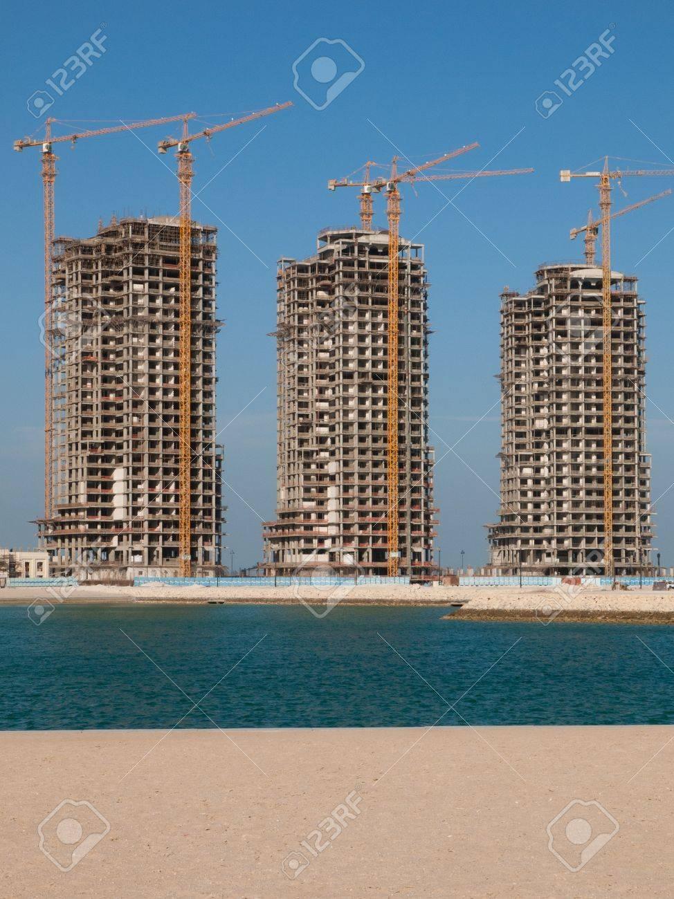 Apartments construction, Doha, Qatar Stock Photo - 12616526