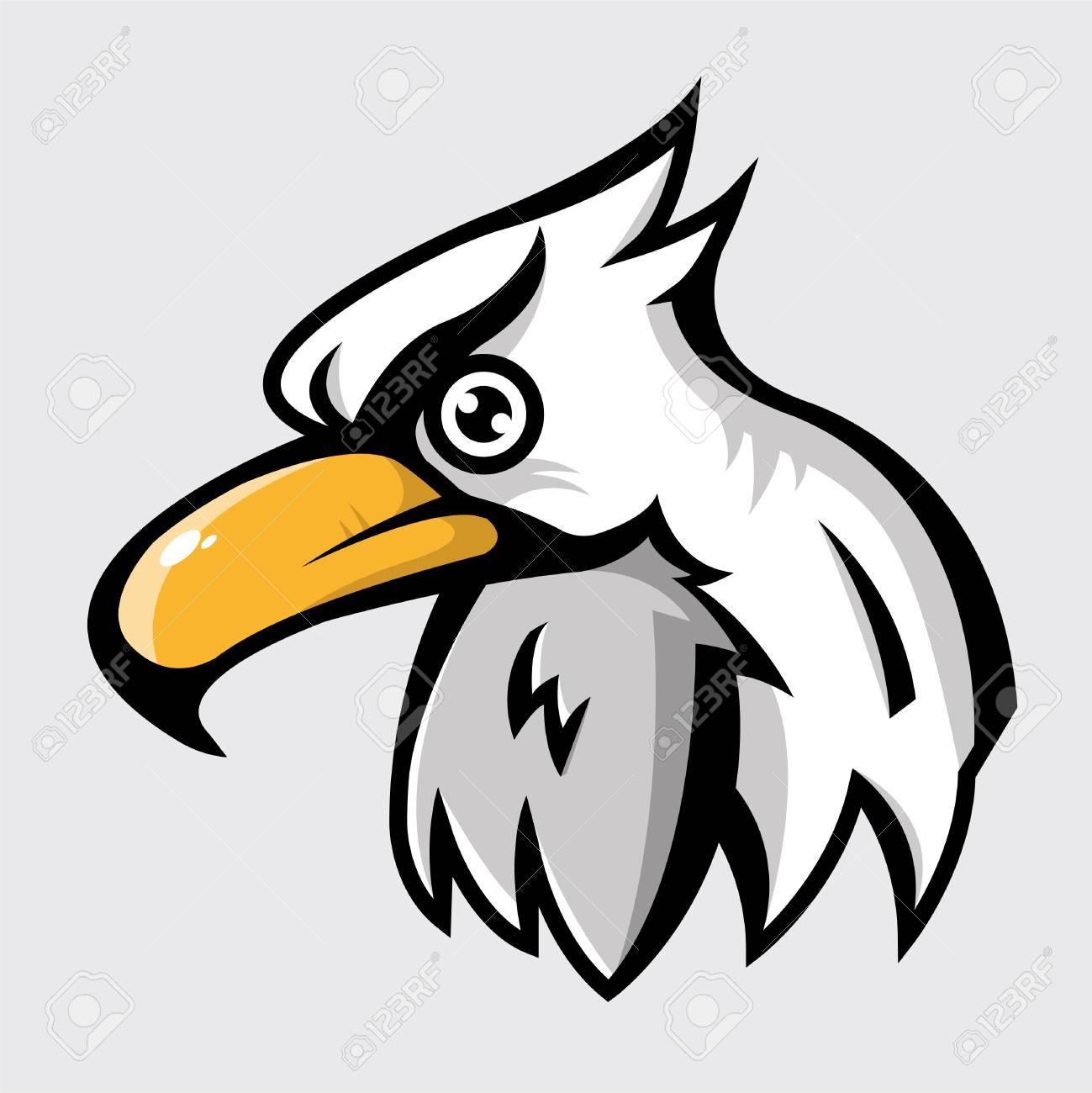 head of eagle logo vector illustration royalty free cliparts