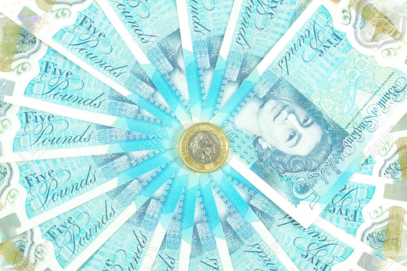 Die Neu Eingeführte Währung Des Vereinigten Königreichs Das
