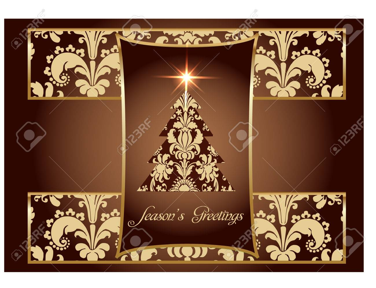 Luxury Christmas Card Royalty Free Cliparts, Vectors, And Stock ...
