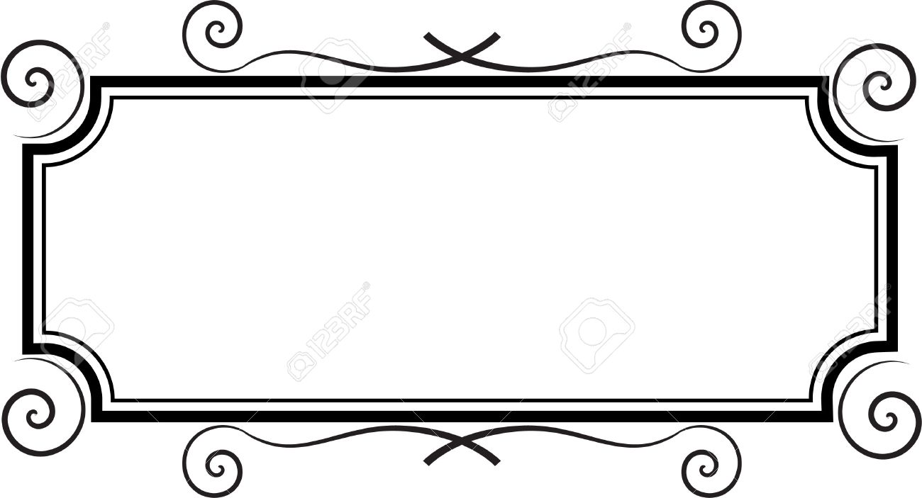 rectangle frame royalty free cliparts vectors and stock rh 123rf com picture frame vector free picture frame vector free download