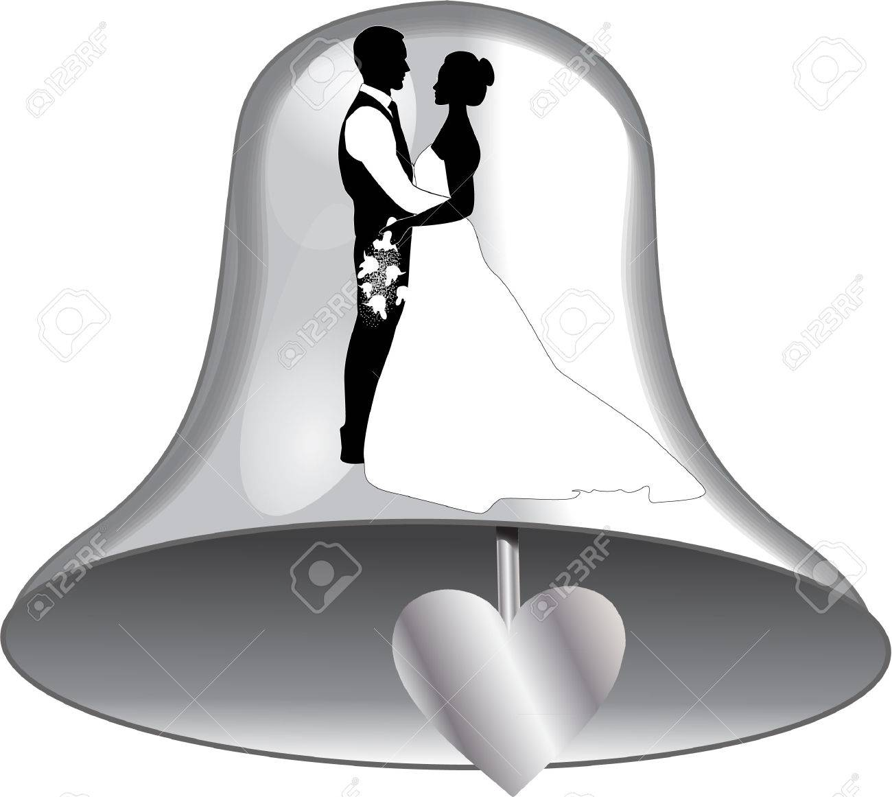 Wedding Bells Images.Wedding Bell With Bride And Groom