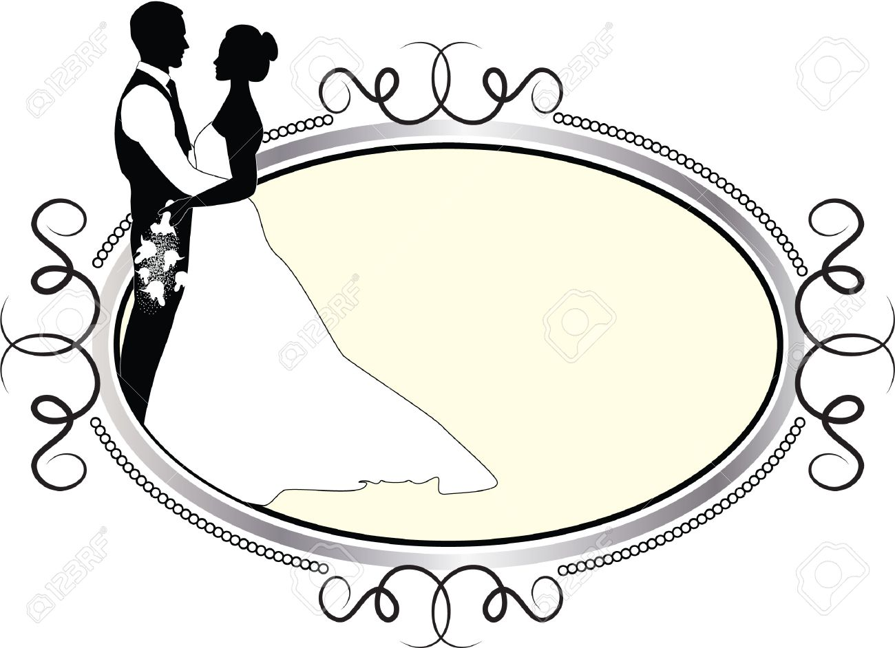 wedding couple in oval frame royalty free cliparts vectors and rh 123rf com wedding vector png wedding vector clip art