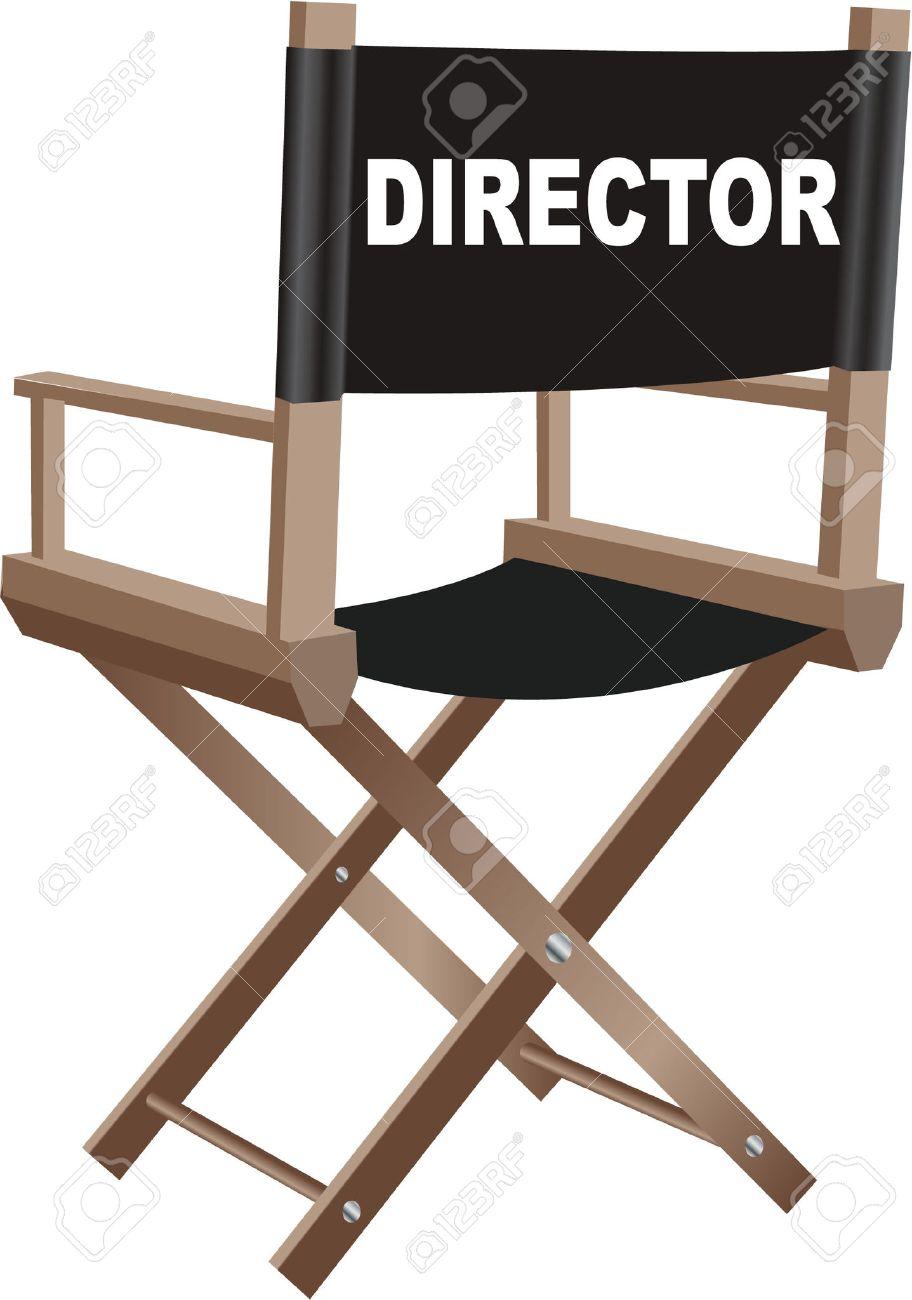 director chair stock vector