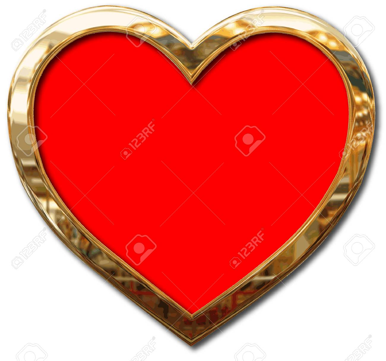 GOLD FRAMED HEART Royalty Free Cliparts, Vectors, And Stock ...