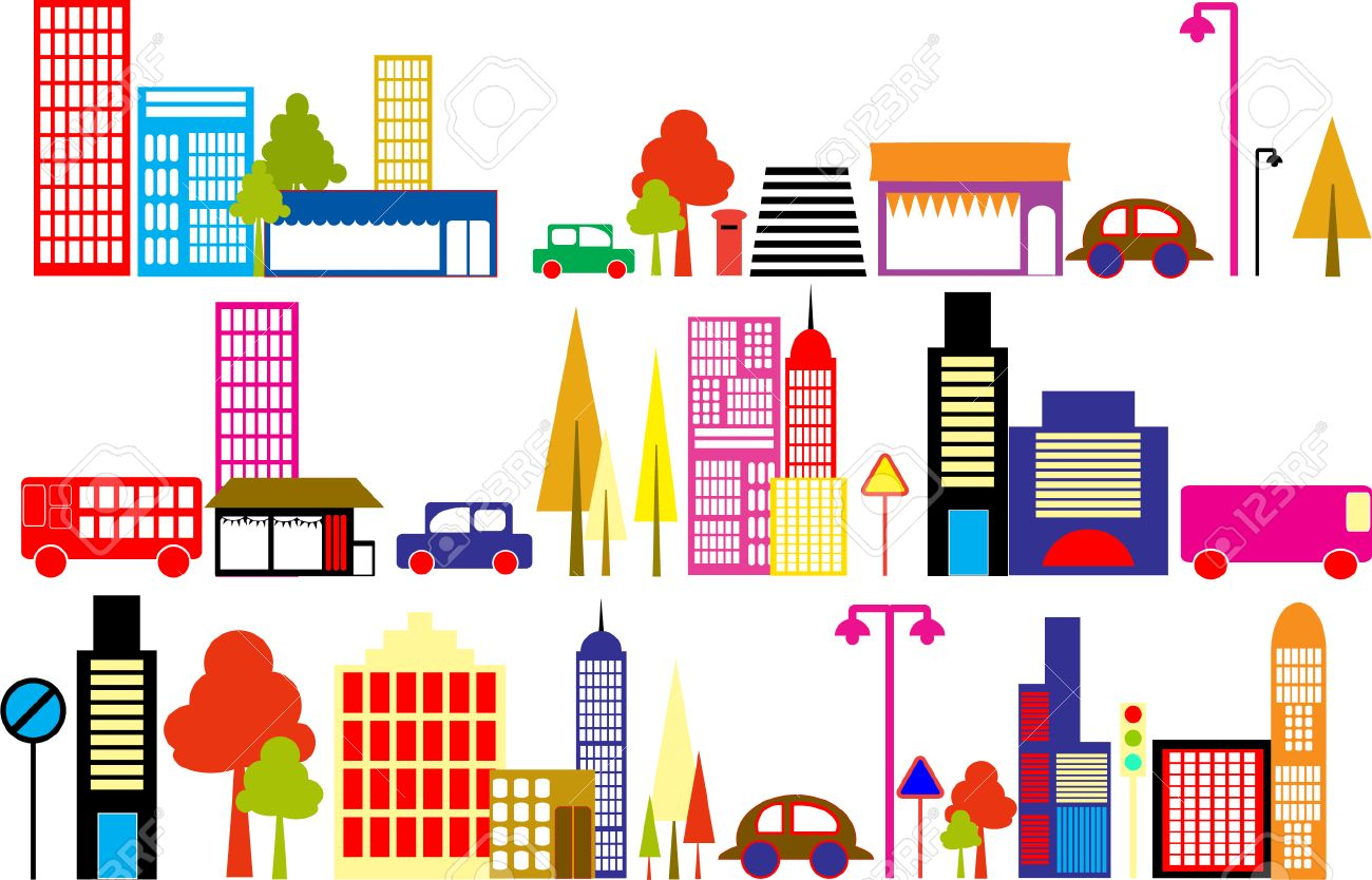 cute city clipart royalty free cliparts vectors and stock rh 123rf com clipart cityscape cityscape clipart