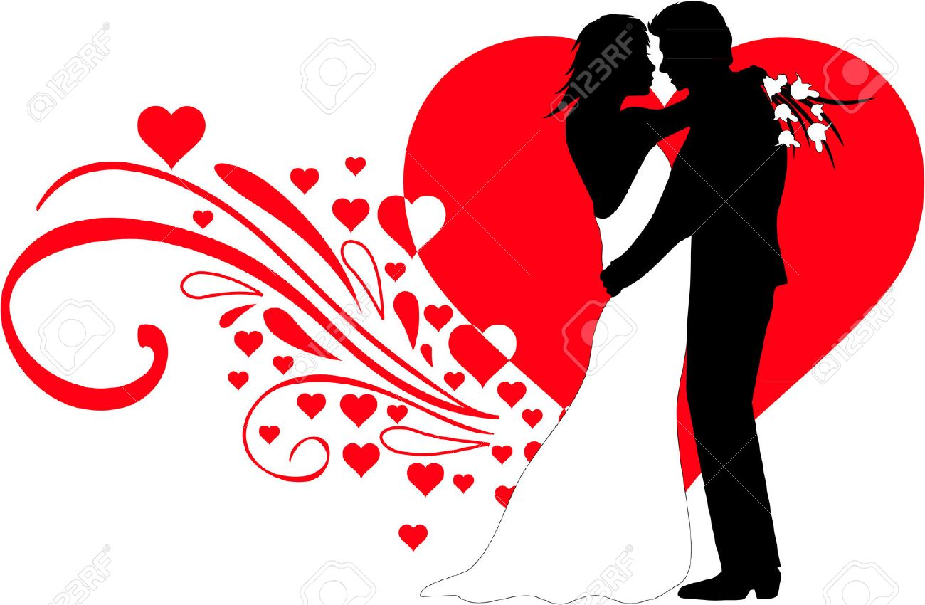 wedding couple royalty free cliparts vectors and stock rh 123rf com wedding couple clipart png wedding couple clipart free download