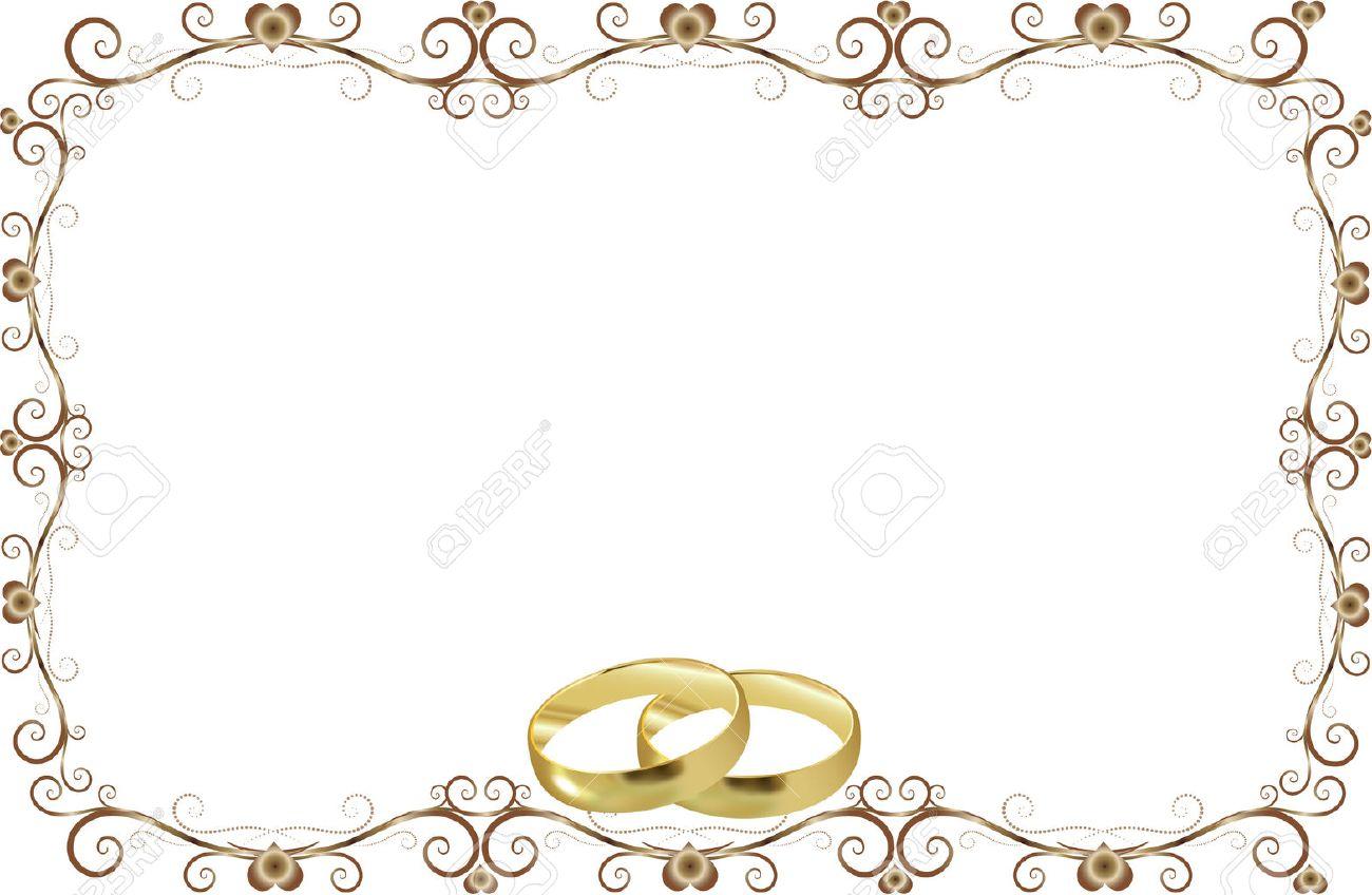 Wedding Rings Invitation Royalty Free Cliparts Vectors And Stock