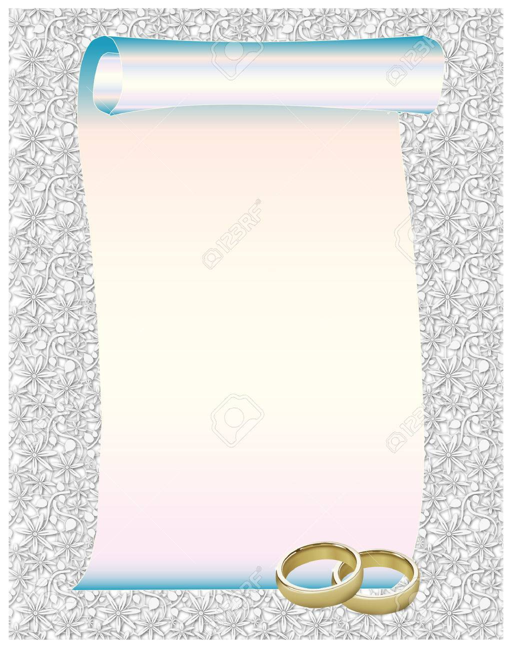 Beautiful Wedding Rings Frame Royalty Free Cliparts Vectors And