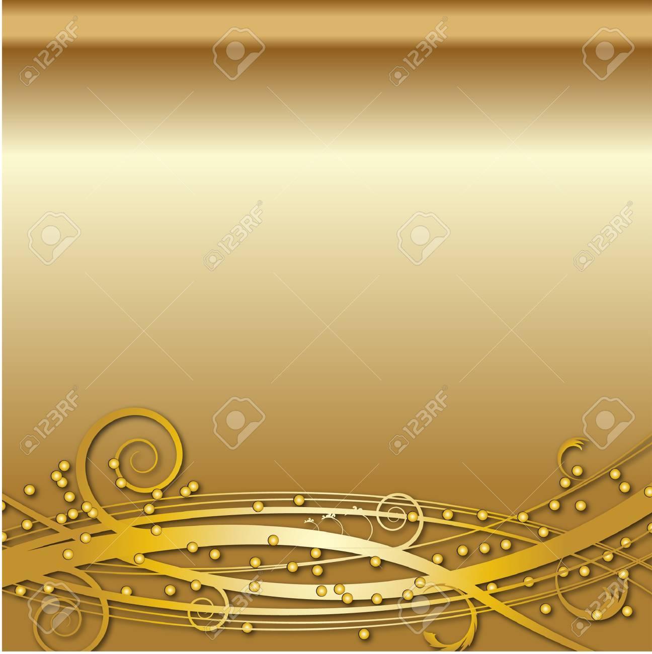 GOLD SWIRL BACKGROUND - 35862179