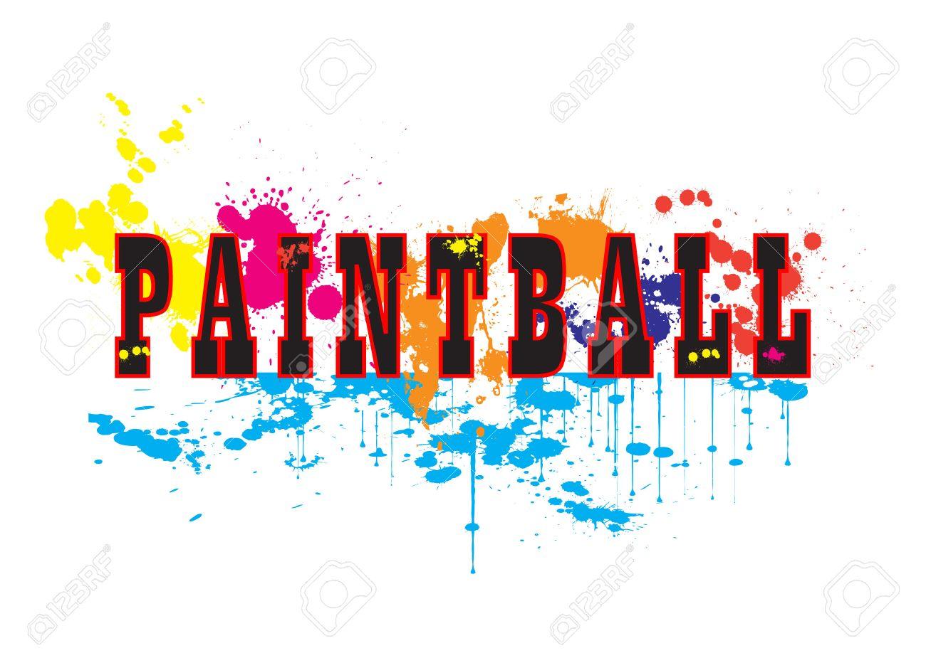 paintball logo vector art with ink splashes royalty free cliparts rh 123rf com paintball logo vector paintball bogota sur