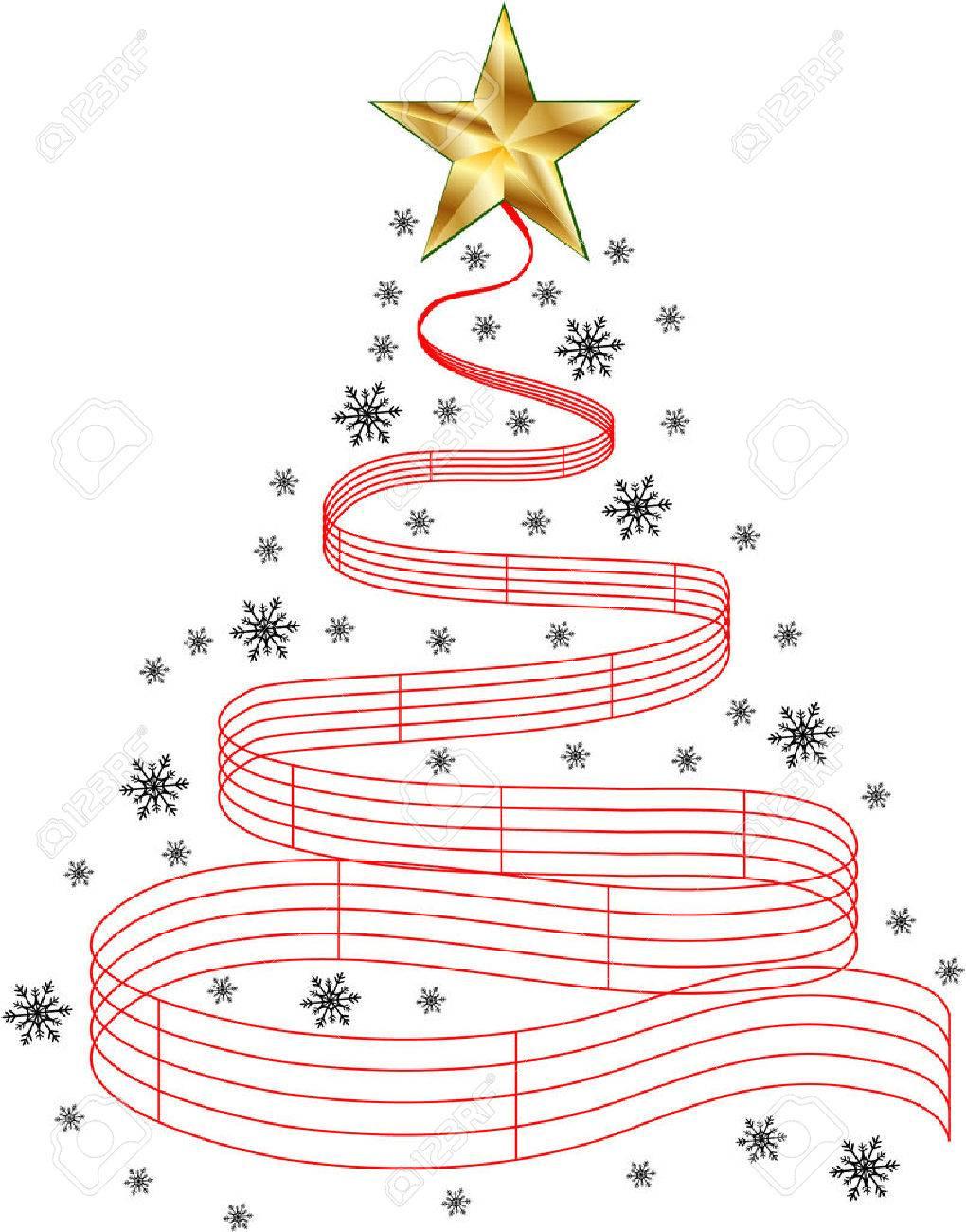 Christmas Carols Clipart.Christmas Tree Music