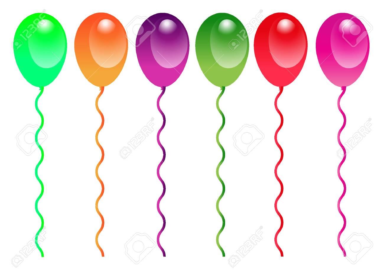 Birthday Celebration Balloons Isolated on White Background - 52023268
