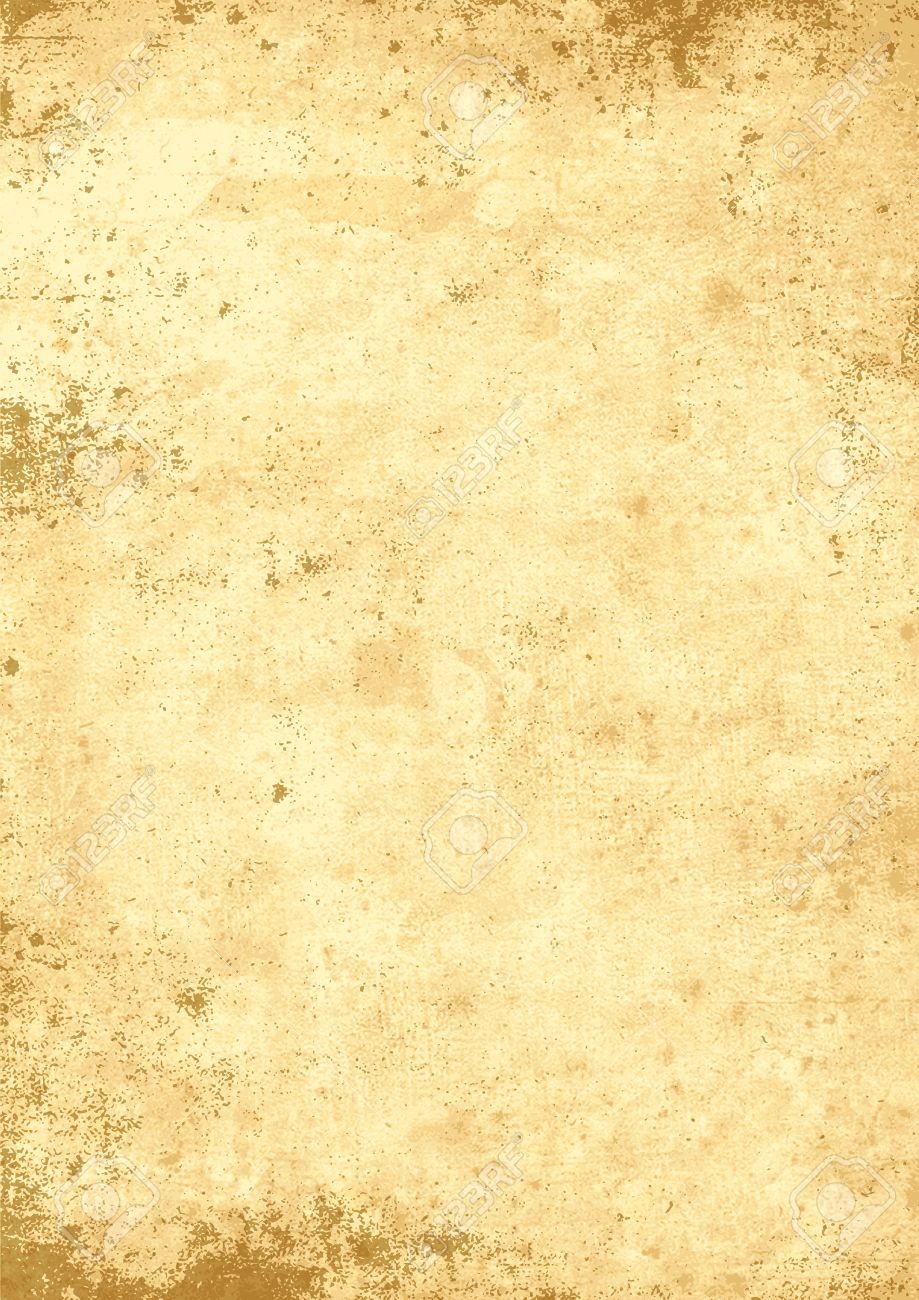 Antique Yellowish Parchment Paper Grungy Background Texture Stock Vector