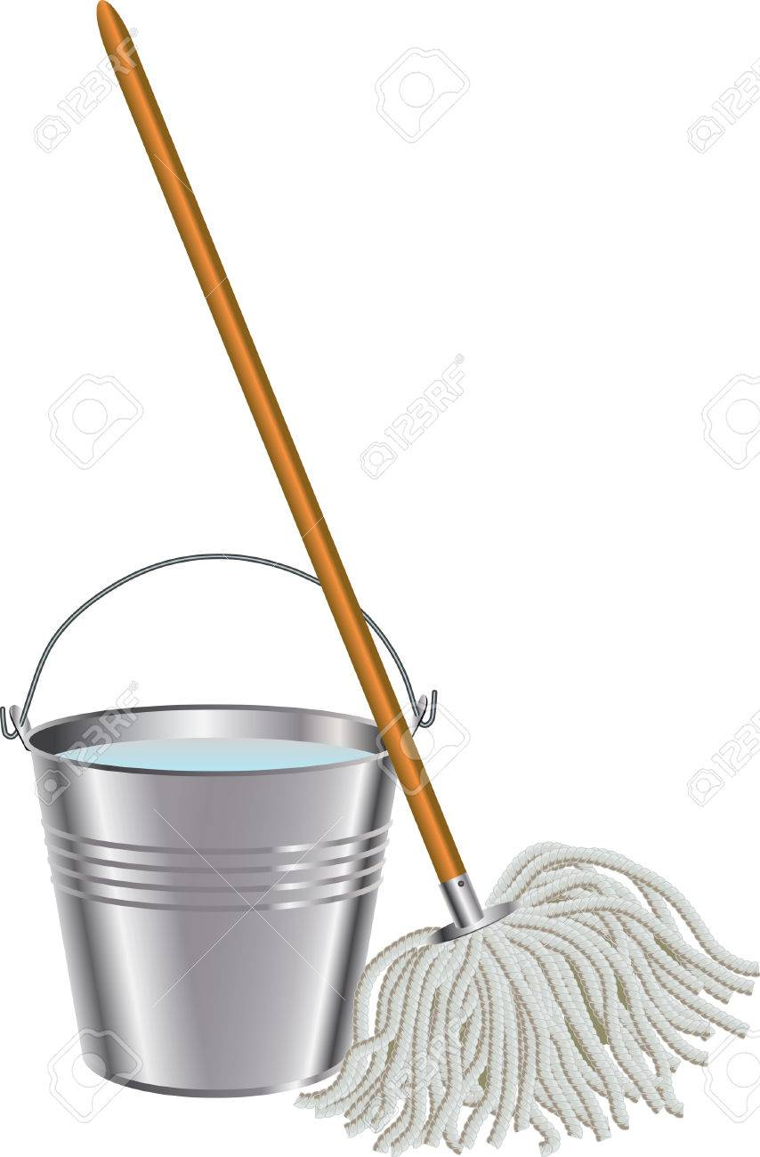 Mop And Bucket Royalty Free Cliparts Vectors And Stock