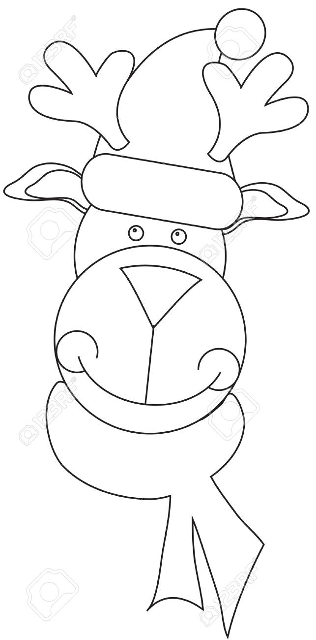 Increíble Rudolph Para Colorear Embellecimiento - Ideas Para ...