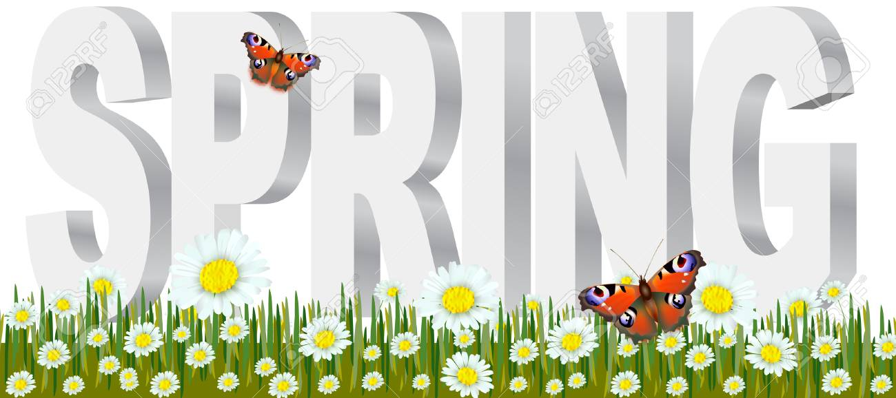 Spring Wording With Flowers Royalty Free Cliparts, Vectors, And Stock  Illustration. Image 91933280.