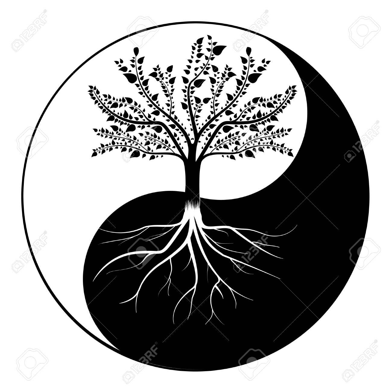 Yin Yang Tree Royalty Free Cliparts Vectors And Stock Illustration Image 94141168