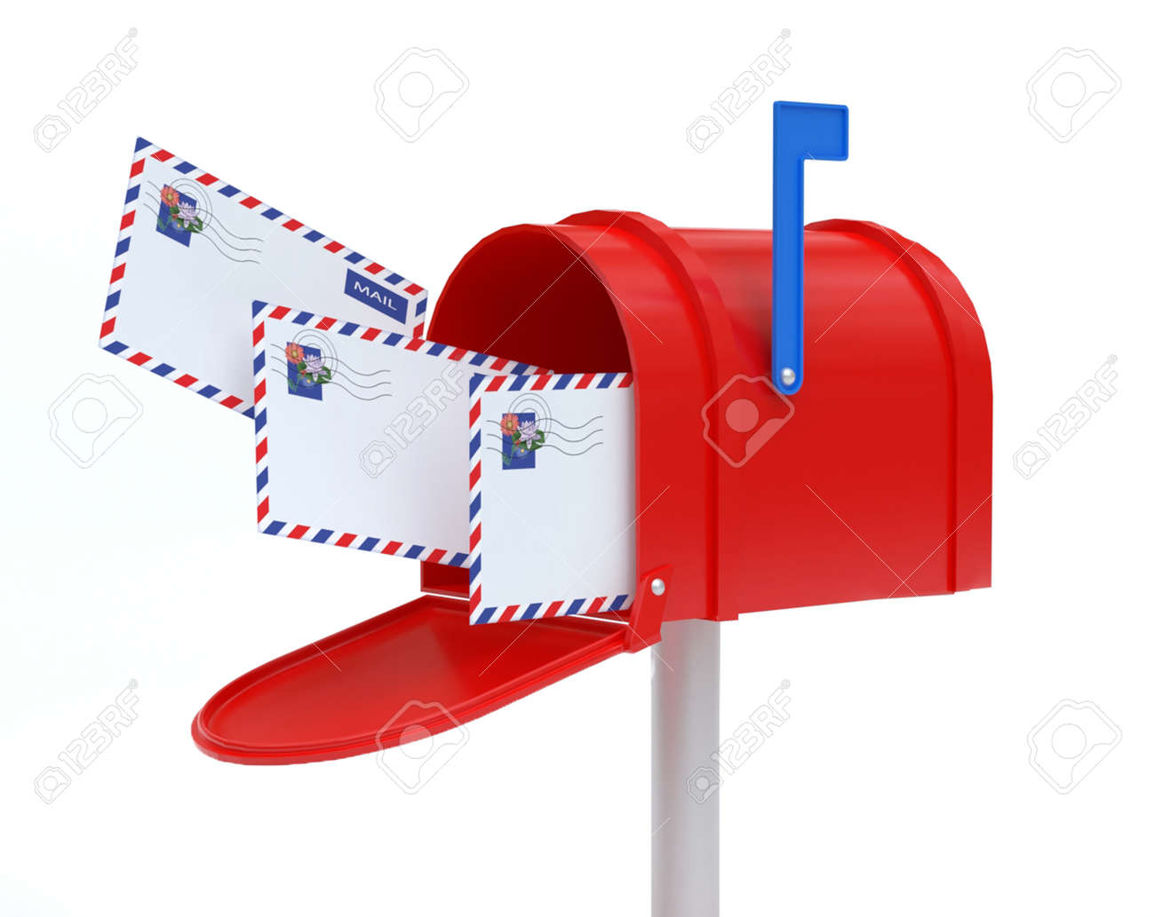 Mail Box with mail - 165842598