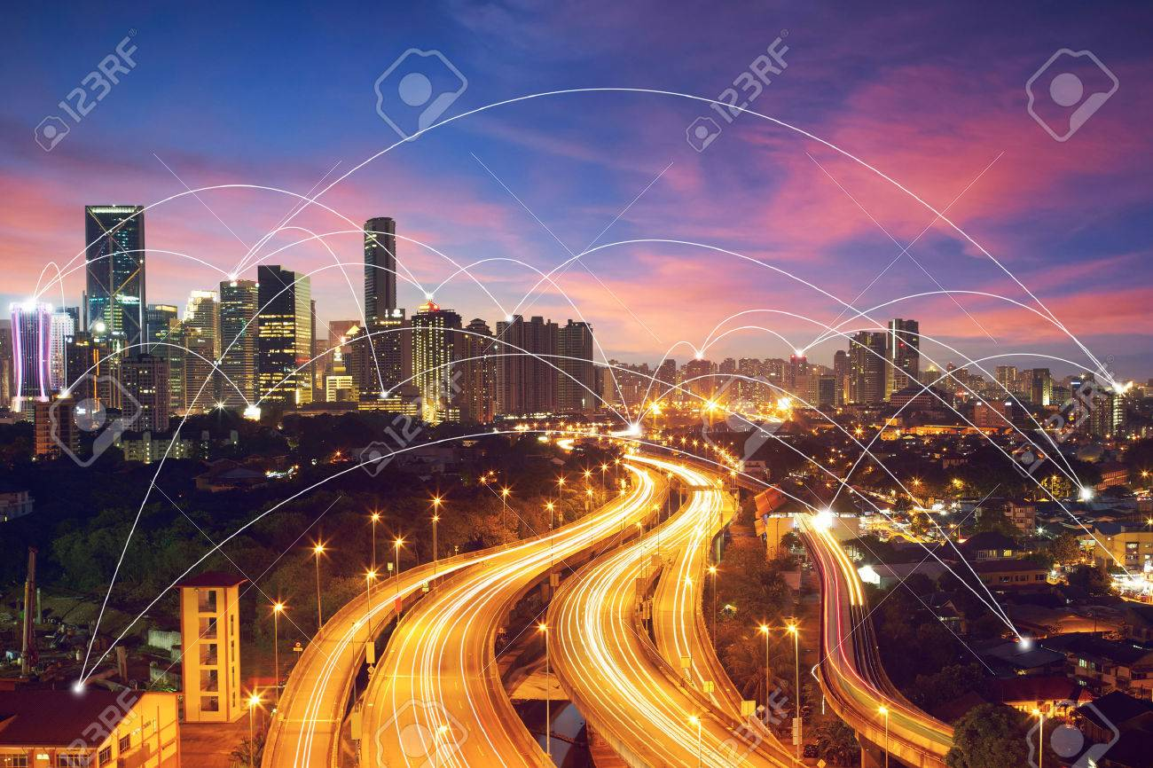 city scape and network connection conceptImage ID:411942079 - 59063988