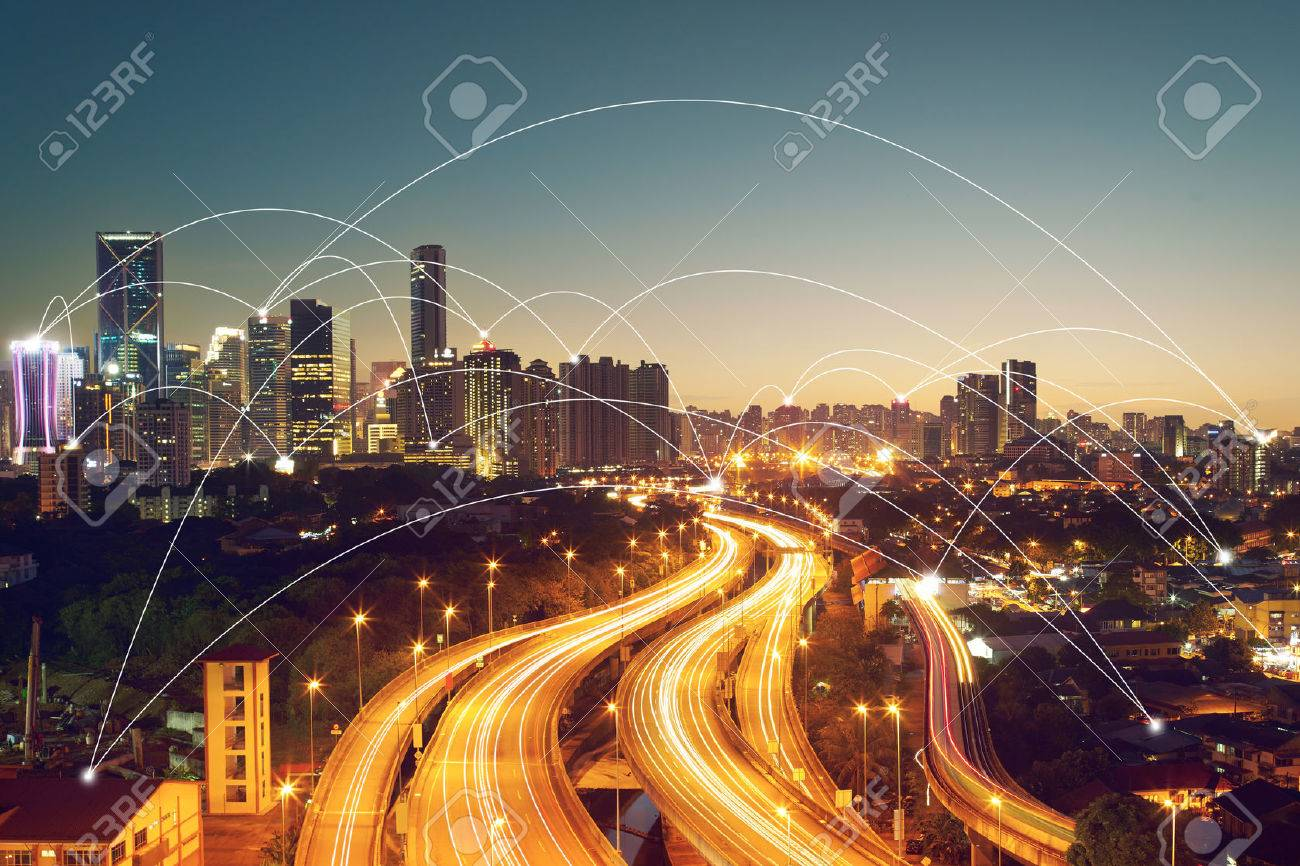 city scape and network connection conceptImage ID:411942079 - 59063996