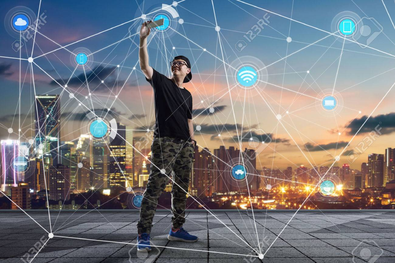 city scape and network connection concept Image - 59064013