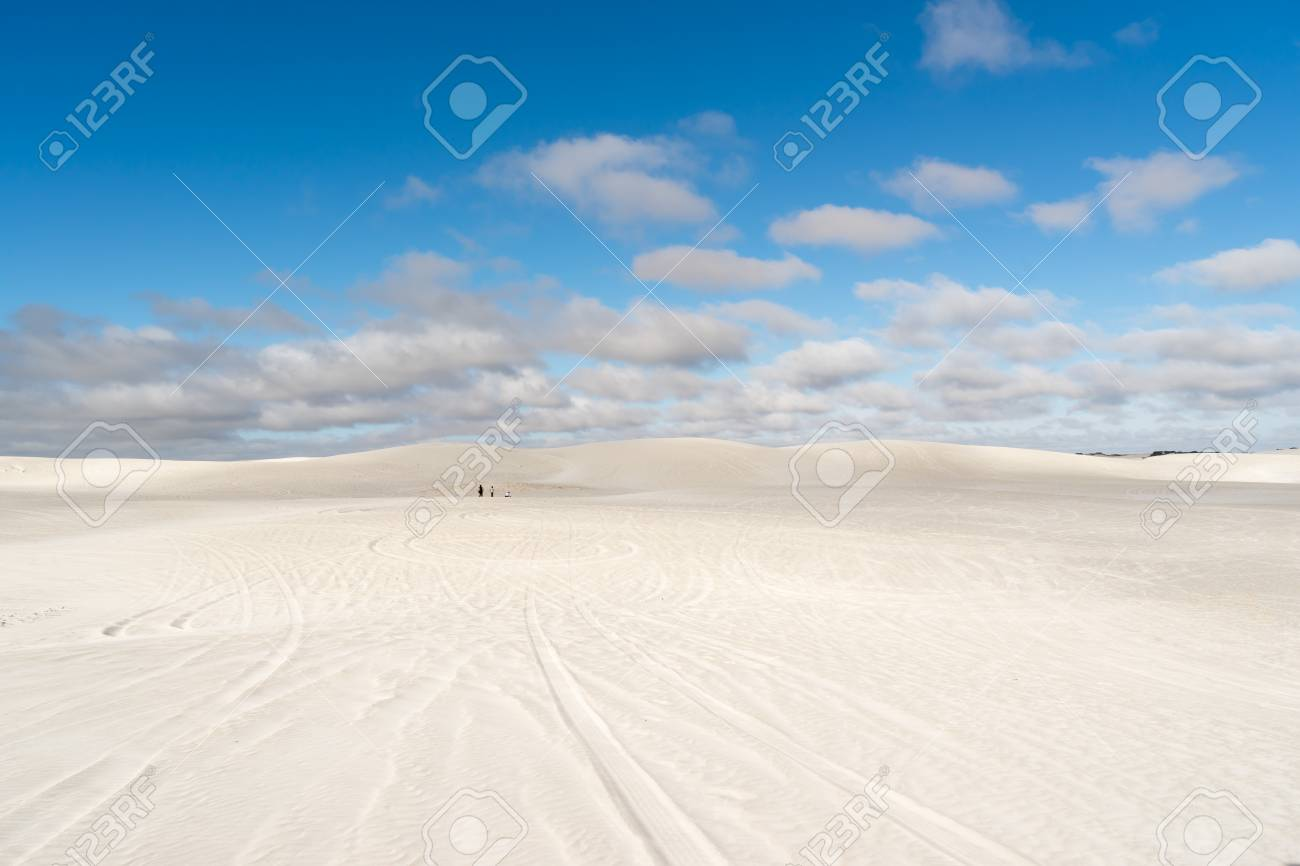 View Of Lancelin Sand Dunes In Western Australia This Place