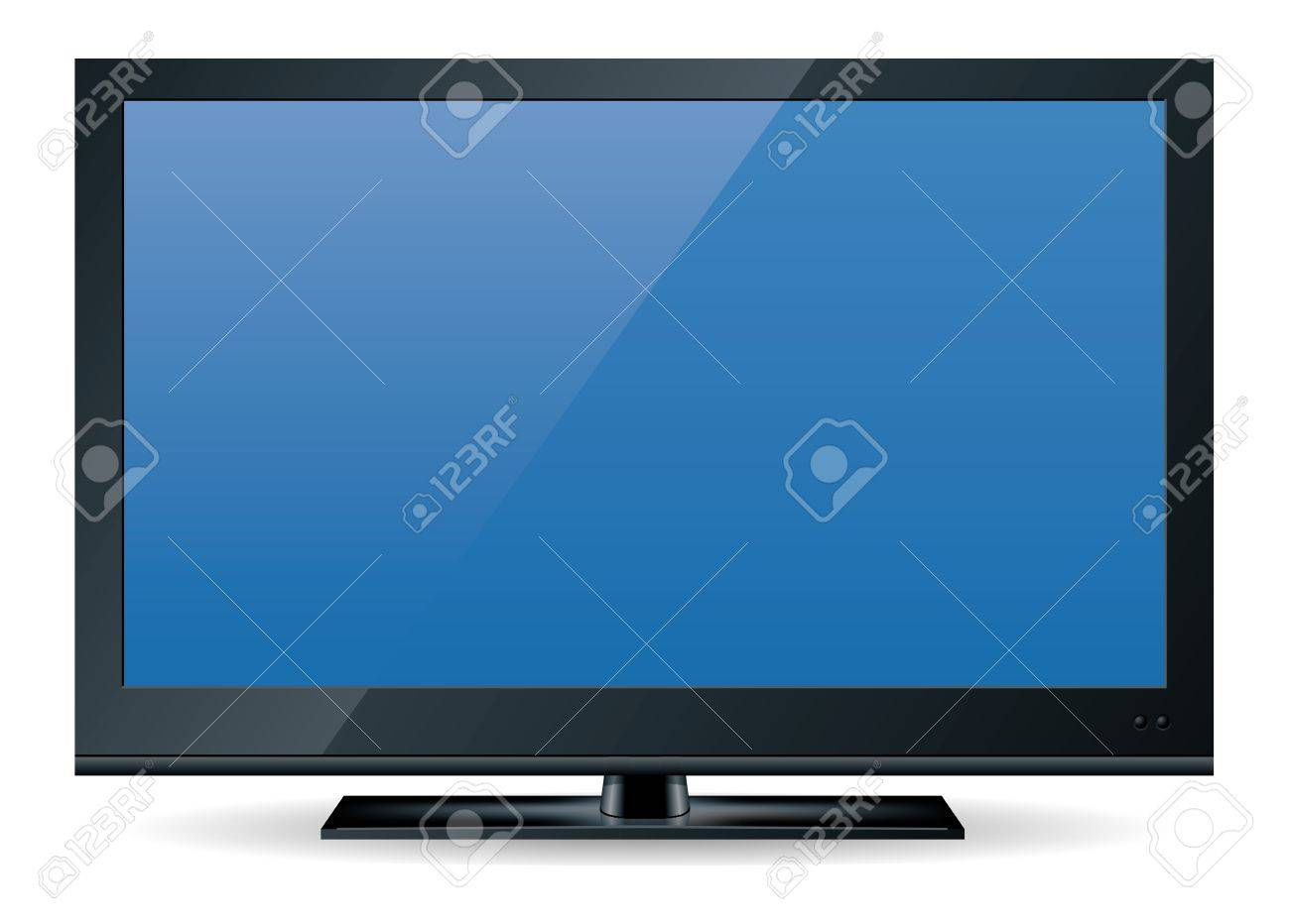 high definition (HD) television set in black Stock Photo - 8785823