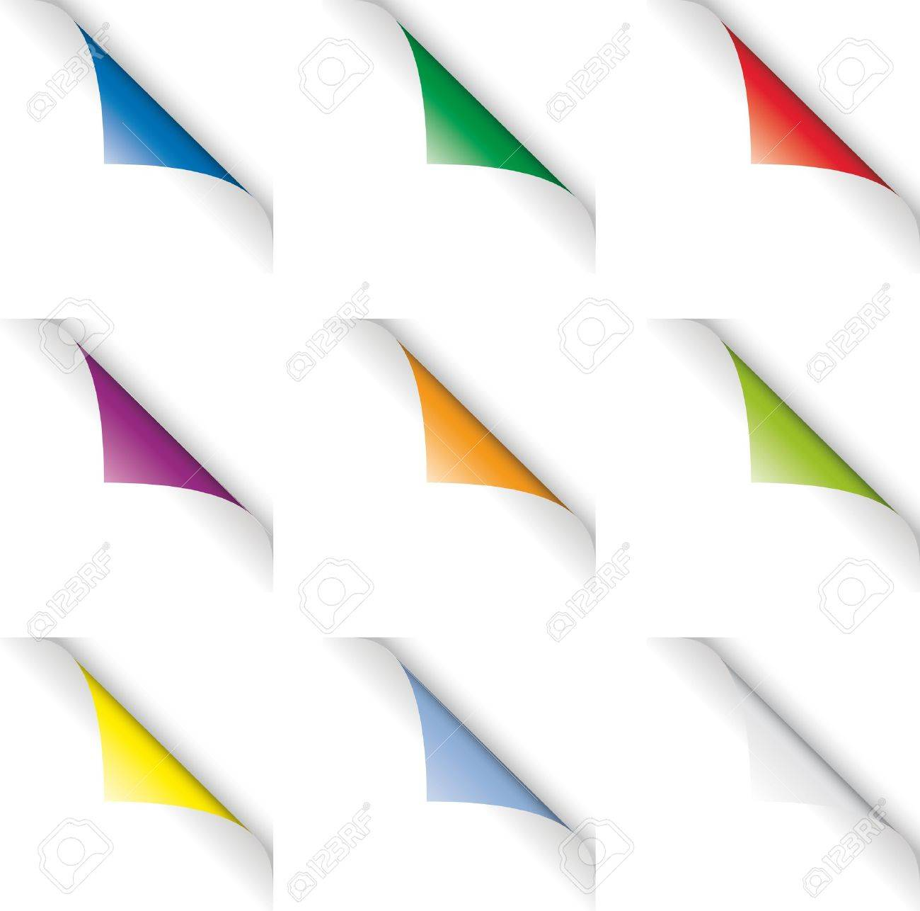 Colored Page Curls (Page Turns) Stock Photo - 10605867