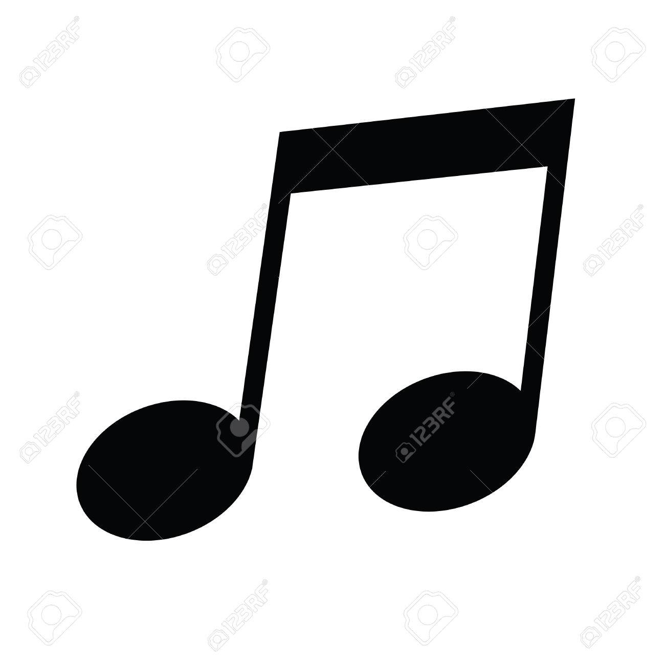a black and white silhouette of a musical note royalty free
