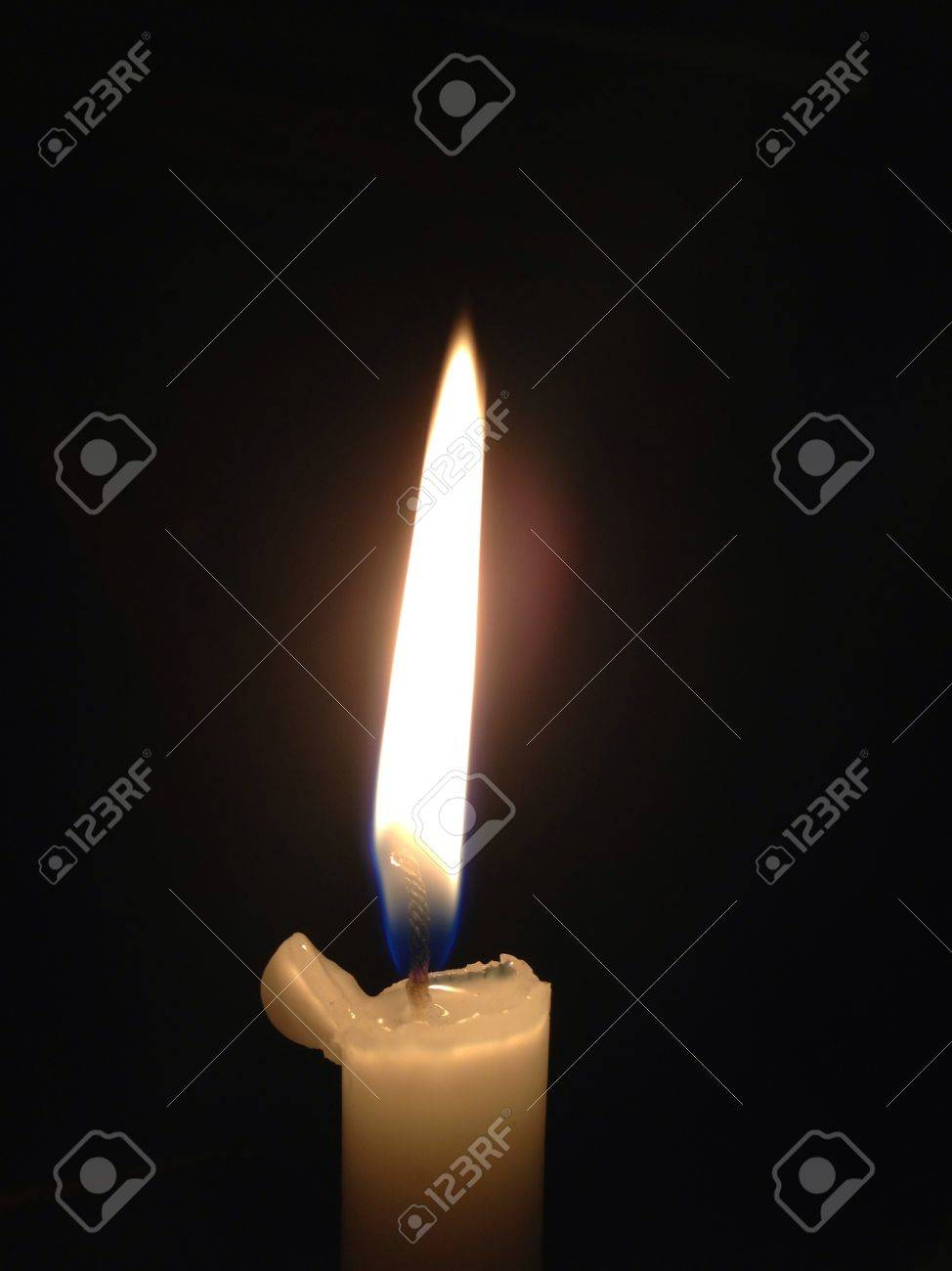 Dark room with candle light - A Light That Fills A Dark Room At Night One Candle And Its Luminosity In Darkness