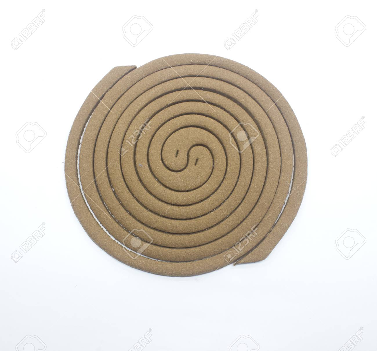mosquito repellent incense coil isolated on white background Stock Photo - 21645423