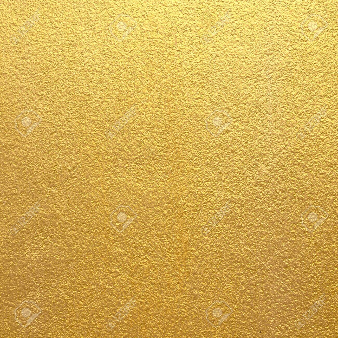 Gold cement wall background texture design - 143552463