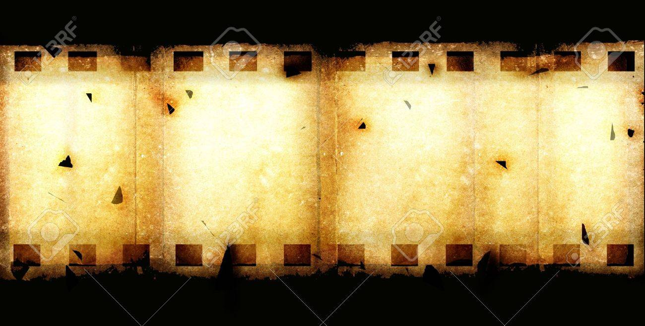 Old 35 Mm Movie Film Reel,2D Digital Art Stock Photo, Picture And ...