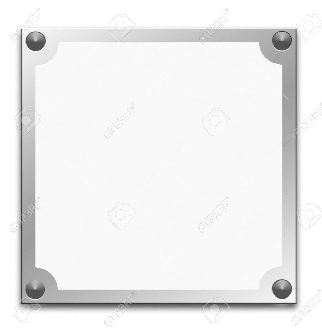 Metallic border frame on white background Stock Photo - 3380383