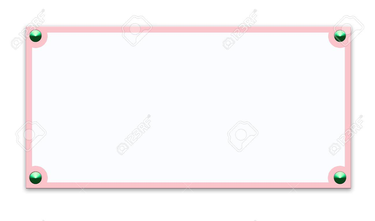 White Backgrounds With Colorful Borders Metallic border frame on white