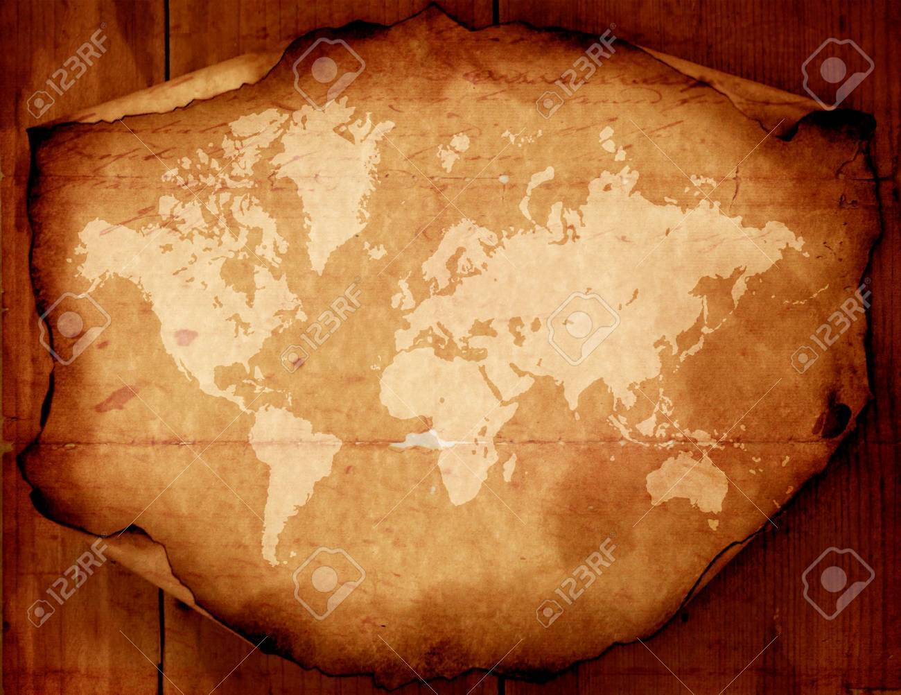 Vintage World Map Art.Vintage World Map 2d Digital Art Stock Photo Picture And Royalty