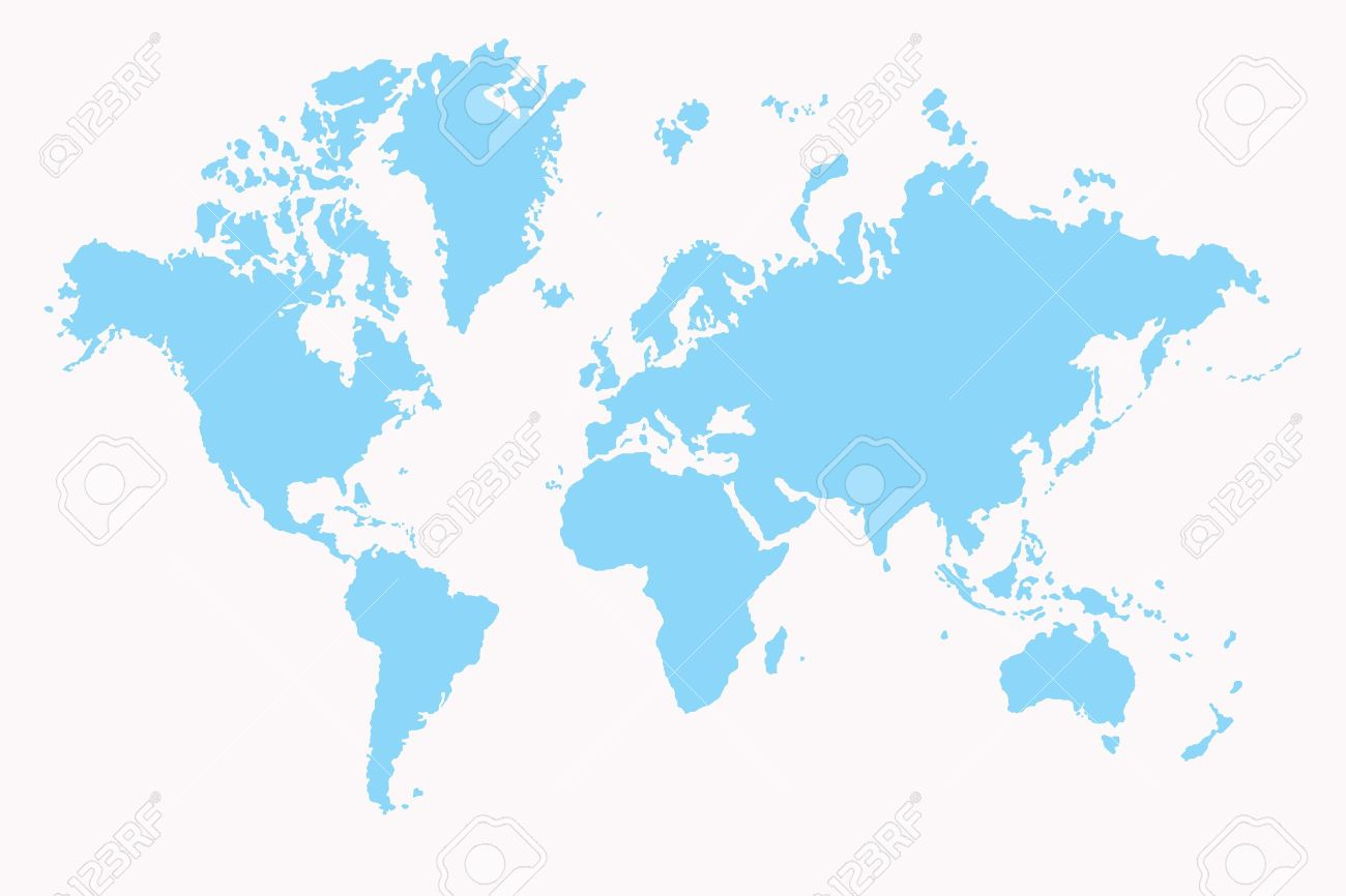 World Map ,2D Art Stock Photo, Picture And Royalty Free Image