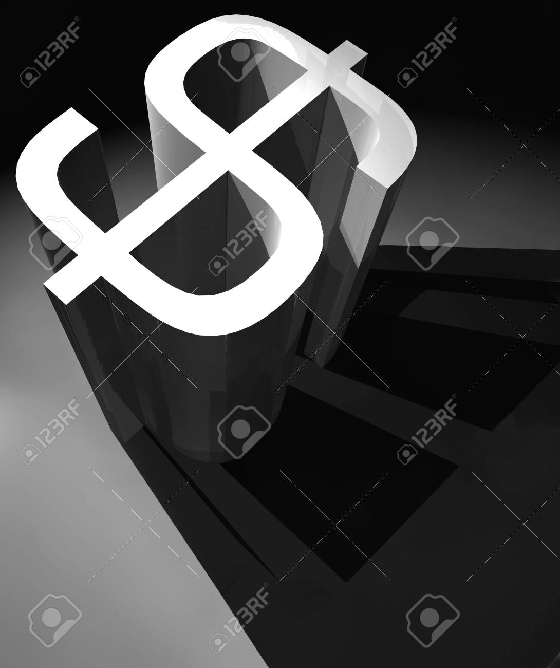 3D Dollar mark ,3d art Stock Photo - 3398202