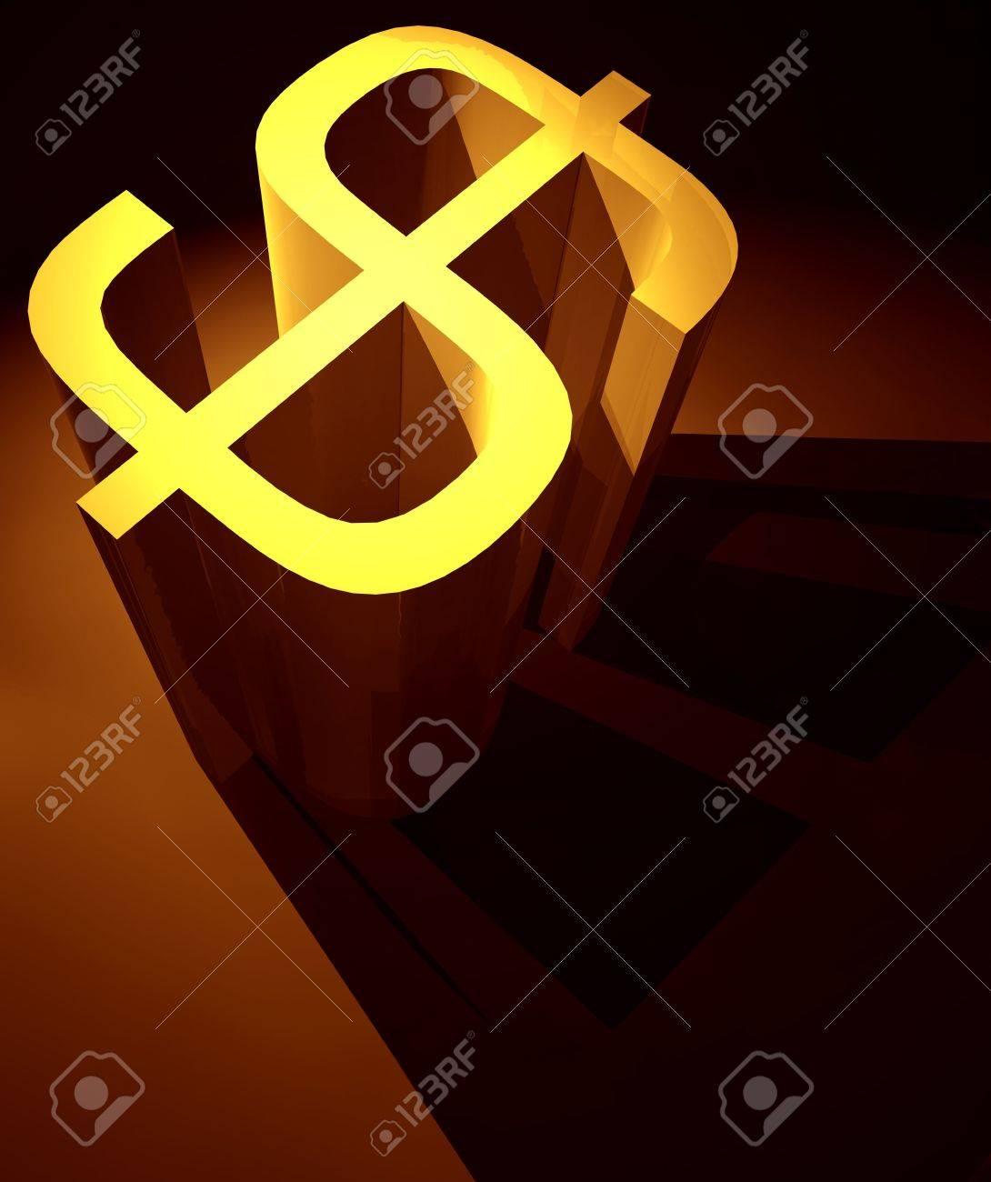 3D Dollar mark ,3d art Stock Photo - 3398204