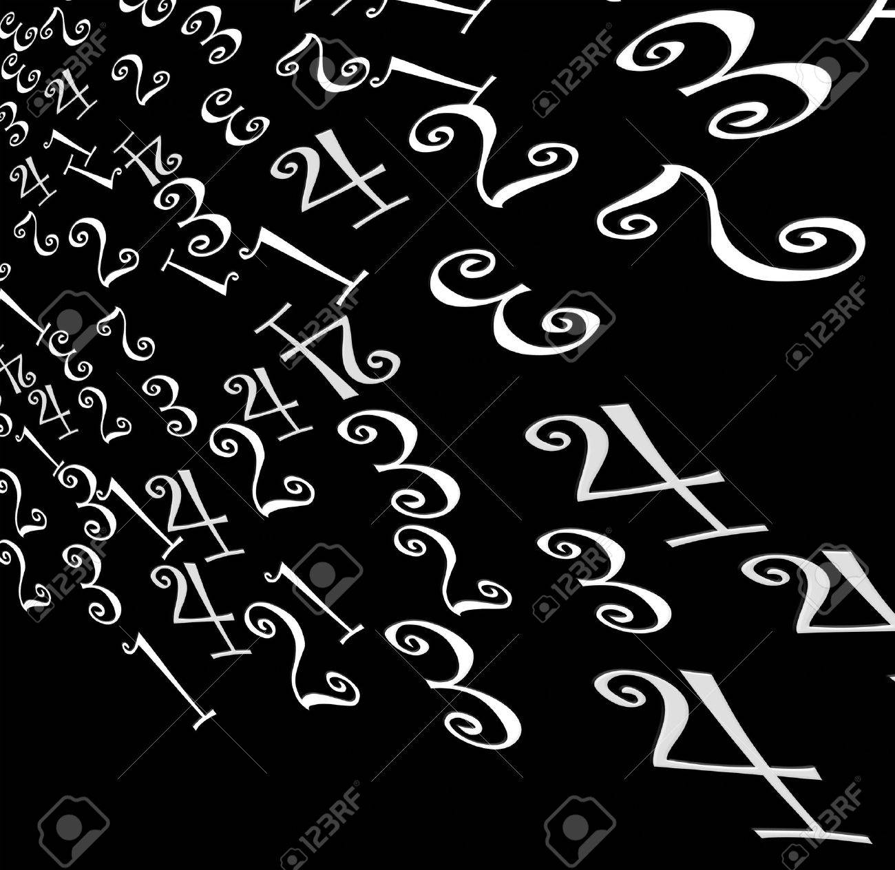 numbers,2D art Stock Photo - 3405358