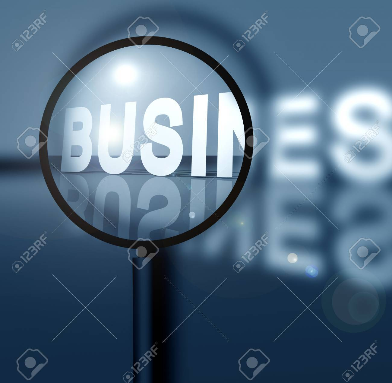 Business success with magnifying glass Stock Photo - 3405335