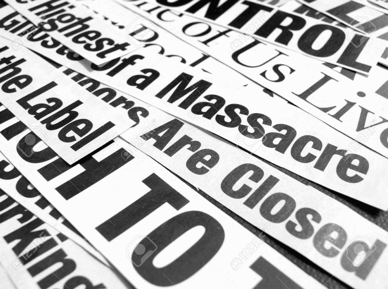 Close up of new paper headlines Stock Photo - 3406527