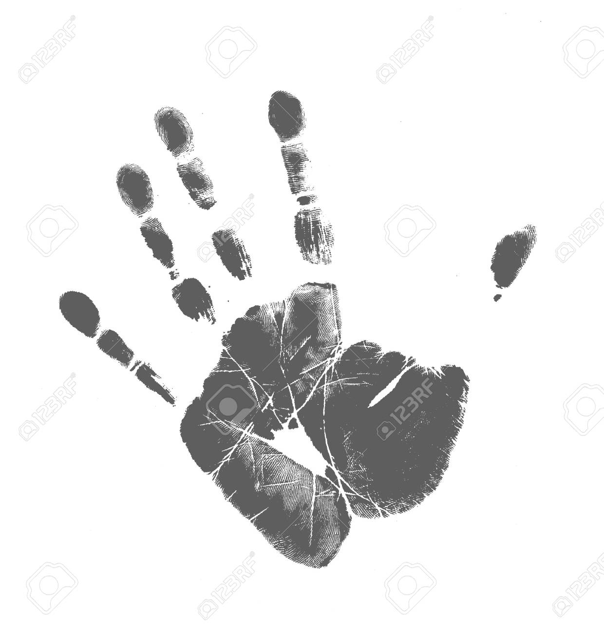 printout of human hand with unique detail stock photo picture and